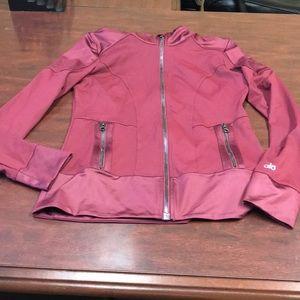 Alo Yoga Moto jacket maroon-burgundy color medium